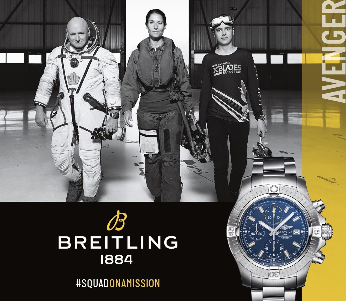 Breitling #squadonamission 3 people