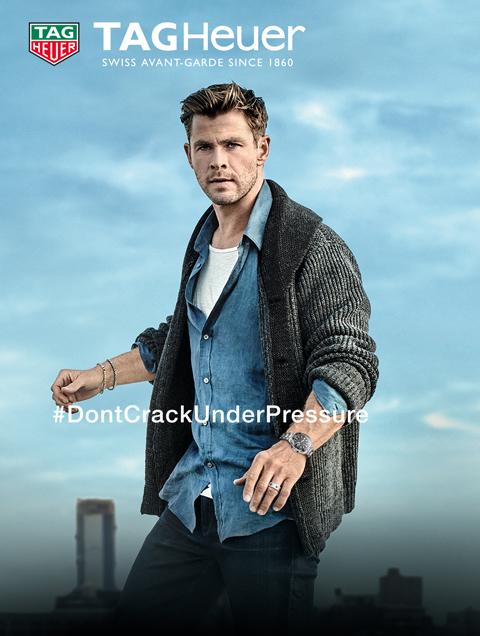 Chris Hemsworth cardigan #dontcrackunderpressure
