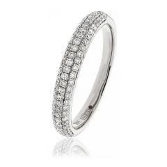 Diamond & White Gold 3mm Eternity Ring