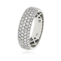 Diamond & 18ct White Gold 6mm Eternity Ring