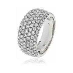 Diamond & 18ct White Gold 10mm Eternity Ring