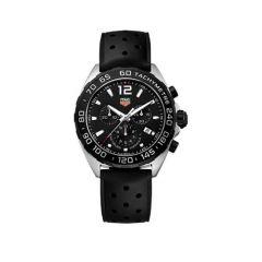 TAG Heuer Formula 1 Chronograph 43mm Black Rubber Men's Watch
