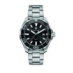 TAG Heuer Aquaracer 43mm Black Dial Steel Bracelet Men's Watch