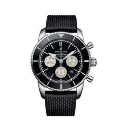 Breitling Superocean Heritage II B01 Chronograph Steel Black & Rubber 44mm Automatic Men's Watch