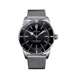 Breitling Superocean Heritage II B20 Steel Mesh Black 44mm Automatic Men's Watch