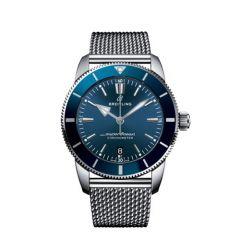 Breitling Superocean Heritage II B20 Steel Mesh Blue 44mm Automatic Men's Watch