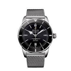 Breitling Superocean Heritage II B20 Steel Mesh Black 46mm Automatic Watch