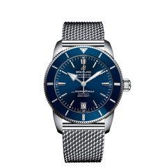 Breitling Superocean Heritage II B20 Steel Mesh Blue 42mm Automatic Watch