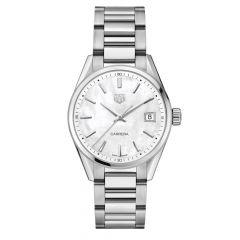 TAG Heuer Carrera Date Steel & Mother of Pearl 36mm Women's Watch