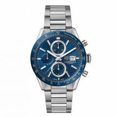 TAG Heuer Carrera Steel & Blue Ceramic 41mm Chronograph Men's Watch
