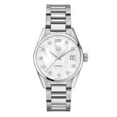 TAG Heuer Carrera Diamond Steel & Pearl 36mm Women's Date Watch