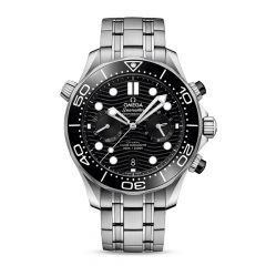 OMEGA Seamaster Diver 300m Steel & Black 44mm Chronograph Watch