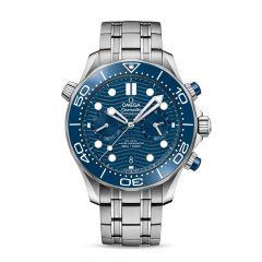 OMEGA Seamaster Diver 300m Steel & Blue 44mm Chronograph Men's Watch