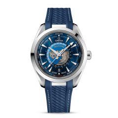 OMEGA Seamaster Aqua Terra Steel & Blue 43 mm GMT Worldtimer Watch