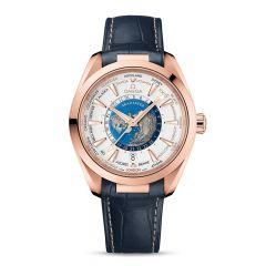 OMEGA Seamaster Aqua Terra Sedna Gold 43mm GMT Worldtimer Watch