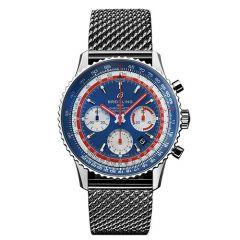 Breitling Navitimer 1 B01 Chronograph Pan Am Edition Steel Mesh 43mm Men's Watch