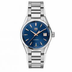 TAG Heuer Carrera Date Steel & Blue 36mm Women's Watch