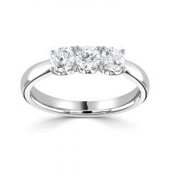 Platinum Three Stone Diamond 0.51CT Claw-Set Eternity Ring