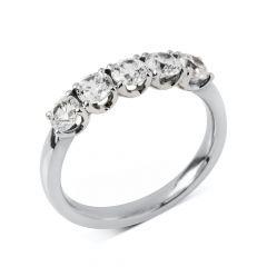 Diamond Five Stone Platinum 1.00 CT Eternity Ring