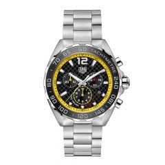 TAG Heuer Formula 1 Steel Black & Yellow 43MM Chronograph Watch