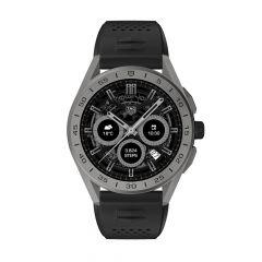 TAG Heuer Connected Silver Titanium & Black Rubber 45MM Men's Smartwatch