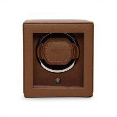 WOLF Cub Single Watch Winder in Cognac