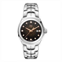 TAG Heuer Link Steel & Black Dial Diamond 32MM Watch