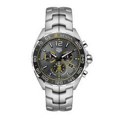 TAG Heuer Formula 1 Senna Special Edition Steel 43 mm Chronograph Watch