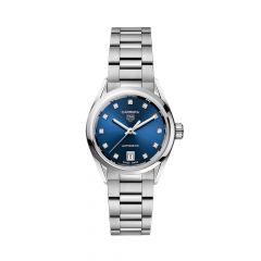TAG Heuer Carrera Steel Diamond & Blue 29MM Date Automatic Watch