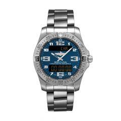 Breitling Aerospace Evo Titanium & Blue Dial 43MM Chronograph Watch