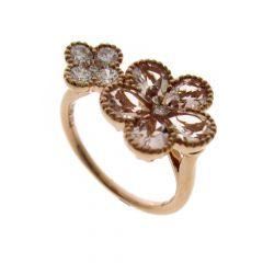Morganite & Diamond Daisy 18CT Rose-Gold Cluster Ring