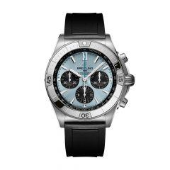 Breitling Chronomat B01 Steel Platinum & Ice Blue 42MM Chronograph Watch