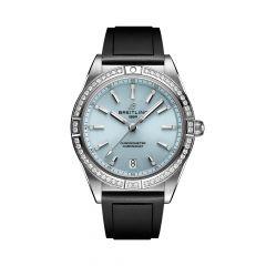 Breitling Chronomat Steel Diamond & Ice Blue 36MM Automatic Watch