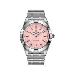 Breitling Chronomat SuperQuartz Steel & Pink Dial 32MM Women's Watch