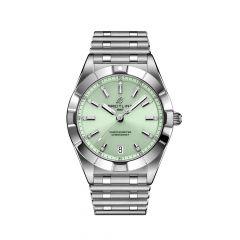 Breitling Chronomat SuperQuartz Steel & Mint Green 32MM Women's Watch