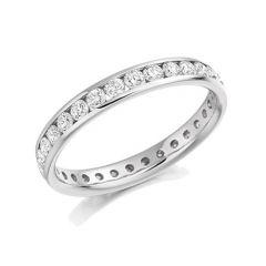 1.04ct Diamond & Platinum Full Set Eternity Ring