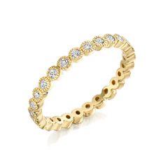 Milgrain 18CT Yellow-Gold & Diamond 0.50CT Ring
