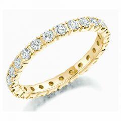 Gold & Round Brilliant Diamond Full Eternity Ring