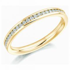 18ct Gold & Round Brilliant Diamond Full Eternity Ring