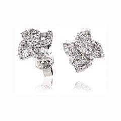 18ct White Gold & Diamond 0.70ct Windmill Earrings