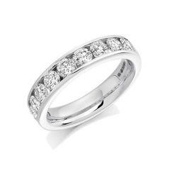 Raphael 1.50ct Diamond & Platinum Half Set Eternity Ring