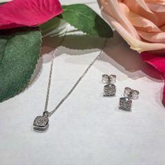 Hugh Rice Princess-Cut Diamond Earrings & Pendant Gift Set