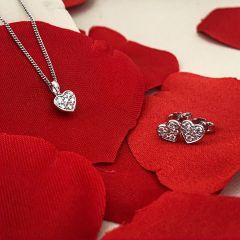 Hugh Rice Heart Diamond Earrings & Pendant Gift Set