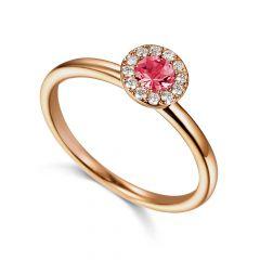 Tourmaline & Diamond 18CT Rose-Gold October Birthstone Ring