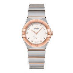 OMEGA Constellation Manhattan Steel 18ct Rose-Gold & Diamond 28mm Women's Watch