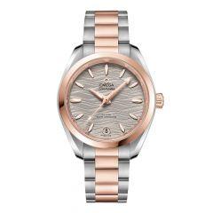 OMEGA Seamaster Aqua Terra Steel & 18ct Rose-Gold Master Chronometer 34mm Automatic Women's Watch