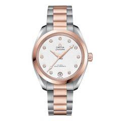 OMEGA Seamaster Aqua Terra Diamond Two-Tone 34mm Women's Watch