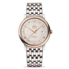 OMEGA De Ville Prestige Co-Axial Steel 18ct Rose-Gold 39.5mm Automatic Men's Watch