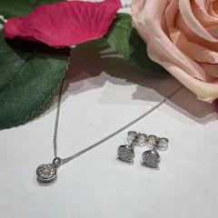 Hugh Rice Round-Brilliant Diamond Earrings & Pendant Gift Set