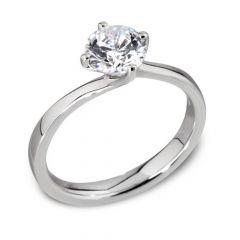 Waltz Diamond Engagement Ring in White Gold